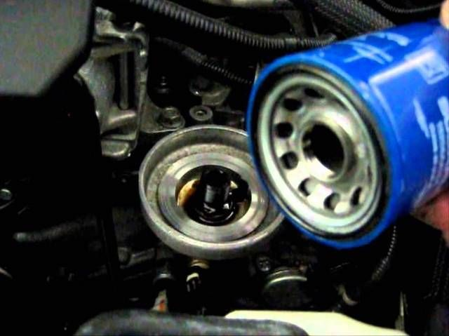 New Subaru Oil Filter Being Installed