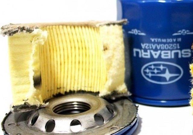 New Subaru Oil Filter Cut Open