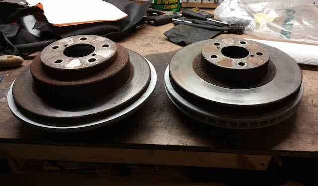 Old subie rotors