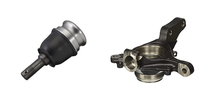 Subaru Steering knuckle and ball joint