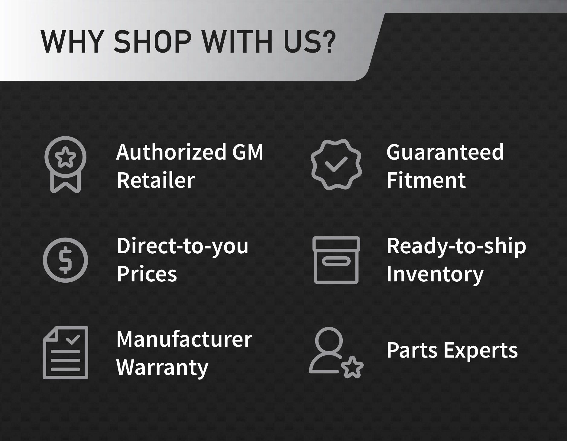 OEM GM Parts and Accessories for sale