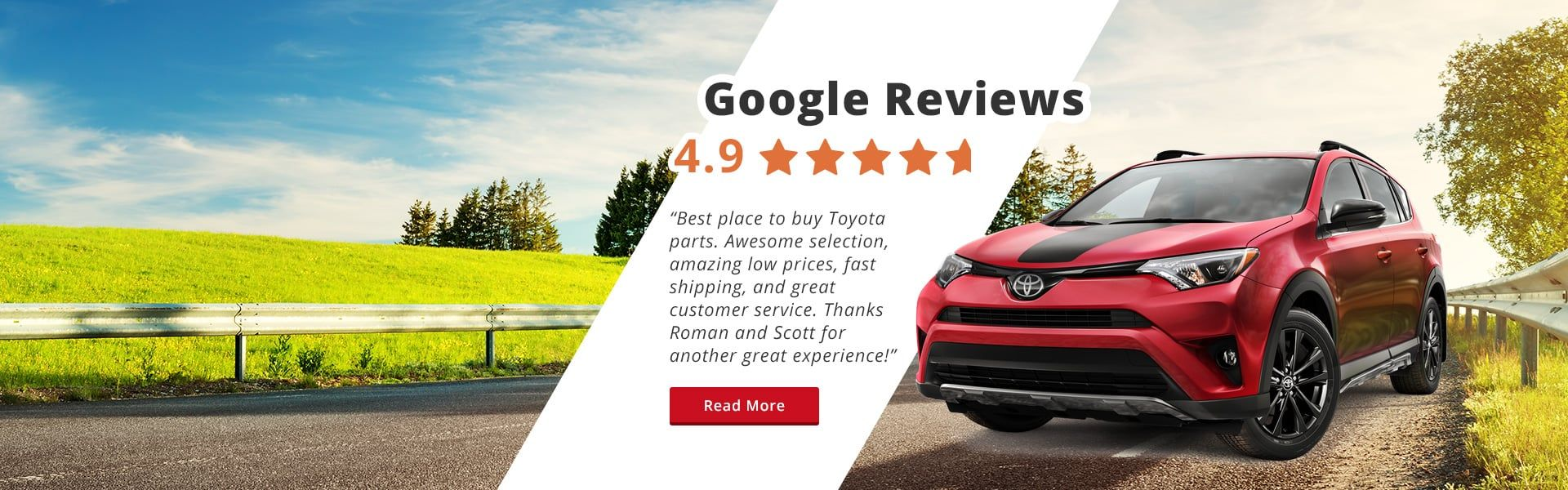 Google Reviews  - 4.9