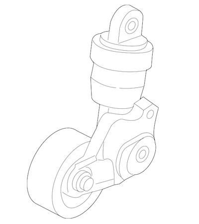 Mazda belt tensioner