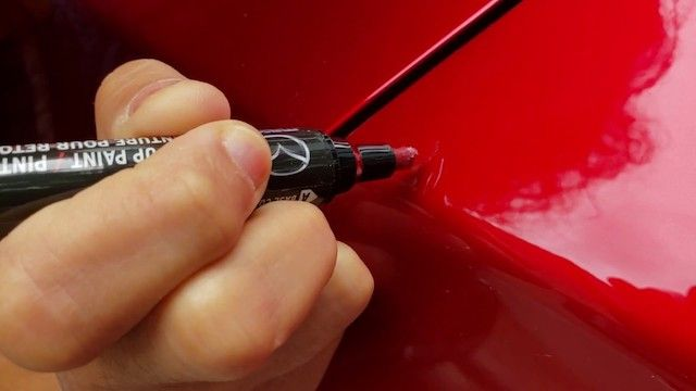 Mazda touch up pen use