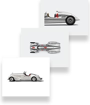 Audi Heritage Canvas Art Set