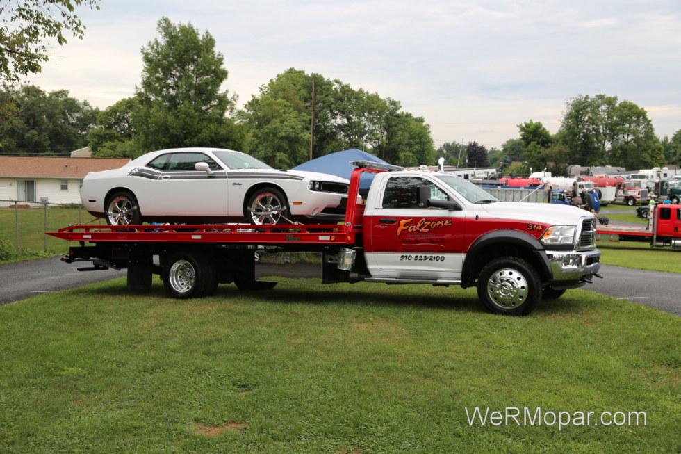 A Dodge hauling a Dodge
