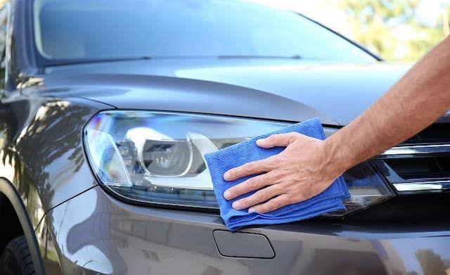clean toyota headlights