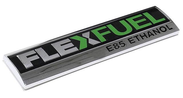 Toyota flex fuel badge