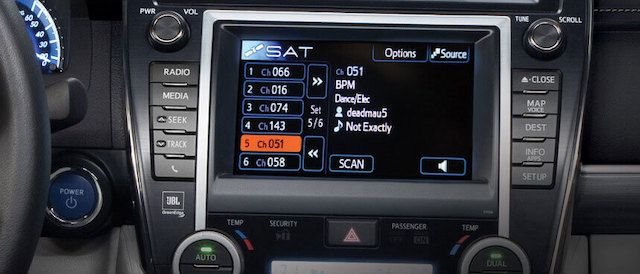 Toyota satellite radio