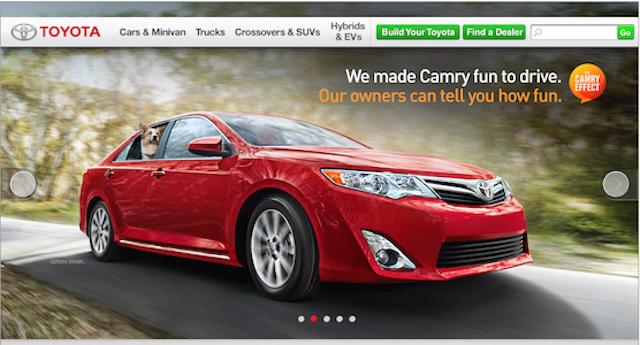 Toyota websites