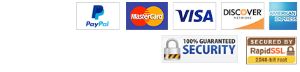 Security and safety guaranteed. All major credit cards accepted.