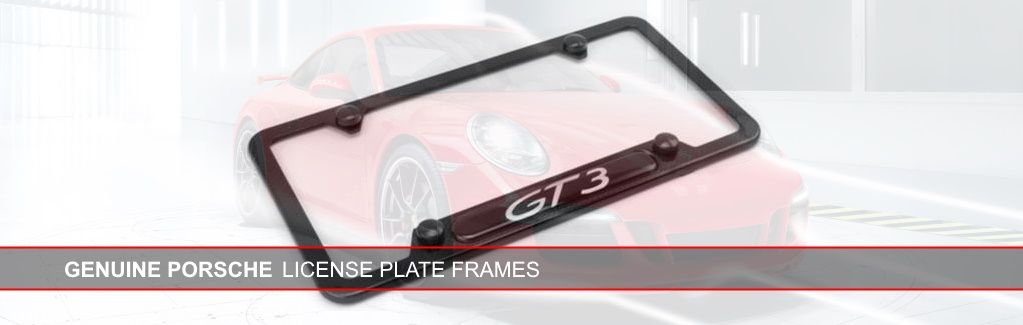 Genuine Porsche Licene Plate Frames